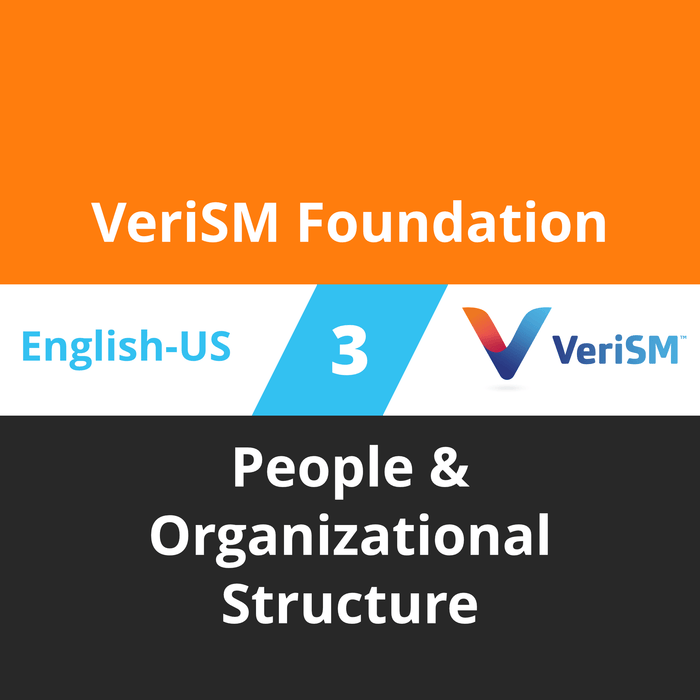 VeriSM Foundation Course - 3 of 6: People & Organizational Structure [Cover]