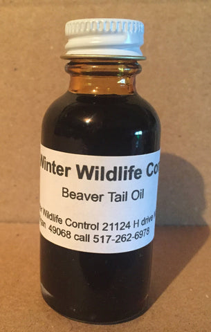 BEAVER TAIL OIL - Winter Wildlife Control Bait & Lure