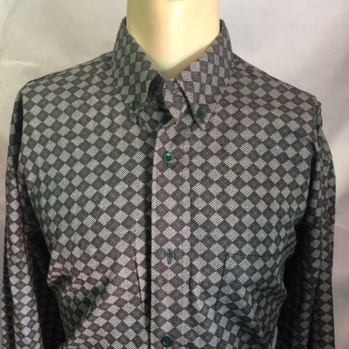ecb3a5ef26a Men's Surjani Plaid Casual dress shirts 100% cotton Styled In Italy Size  Large