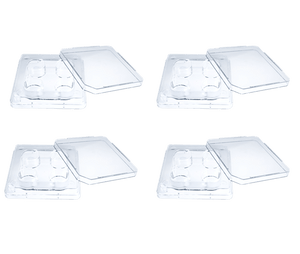 Oosafe® 4 Well Dish Treated Surface (4 Pcs/Pack, 120 Pcs/Case)