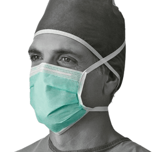 Secure-Gard® Fluid Resistant Procedure Face Mask (Focus on Green Face Mask)