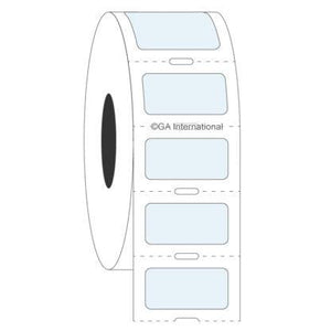 Transparent Cryogenic Labels for Thermal-Transfer Printers – 0.875″ x 0.433″