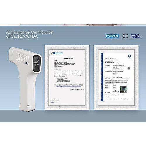 Infrared Forehead Thermometer, (IR) Non-Touch - Authoritative Certification of CE / FDA / CFDA