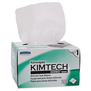 "Kimwipes Delicate Task Wipers, White, 4.4"" x 8.4""  (280/box or 16,800/case)"