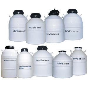 The Complete MVE XC series of Liquid Nitrogen Storage Dewars