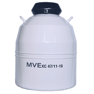 "MVE XC 47/11-10 Aluminum Dewar with (10) 11"" Canisters"