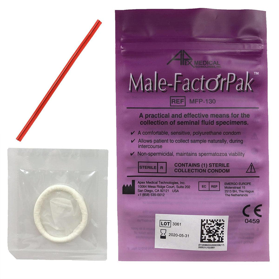 Male-Factor Pak Seminal Fluid Collection Device for IVF and IUI