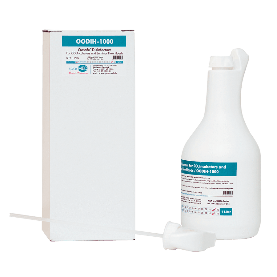 OOSAFE® IVF Disinfectant for CO2 Incubators and Laminar Flow Hoods