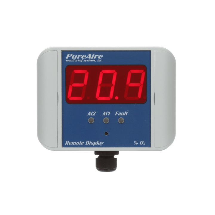Remote Digital O2 Alarm & Display for PureAire Low Oxygen Alarm