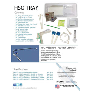 Thomas Medical HSG Procedure Tray Info Sheet