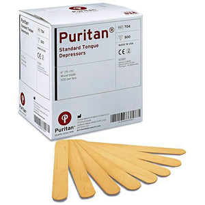Puritan Surgical 6 Inch Sterile Tongue Depressors