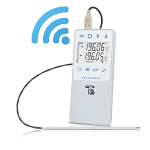 TraceableLIVE® Liquid Nitrogen Datalogging Traceable Thermometer. Single Probe Version.