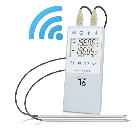 TraceableLIVE® Liquid Nitrogen Datalogging Traceable Thermometer. Dual Probe Version.
