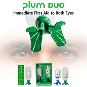 Scienceware® PLUM Open Eye Wash Stations with Sterile Saline - 500 or 1000ml