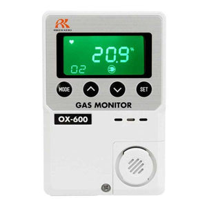 RKI standalone monitor that detects Oxygen (O2) for IVF Labs. Green.