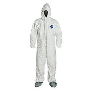 Tyvek Coverall with Hood and Skid-Resist Boots