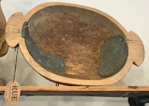 Unique Found Wood Dough Bowl
