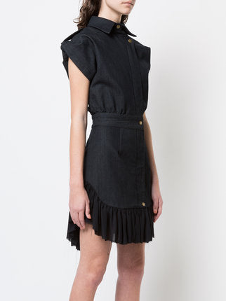 Dark Denim Ruffle Dress