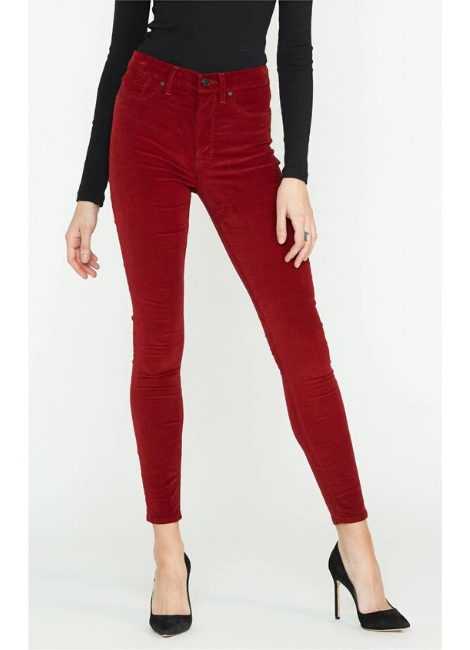 Hudson Barbara Skinny Ox Blood Denim
