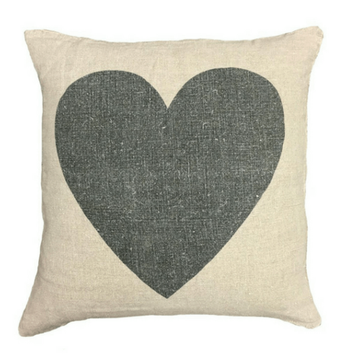 Sugarboo & Co. Black Heart Pillow 24sq