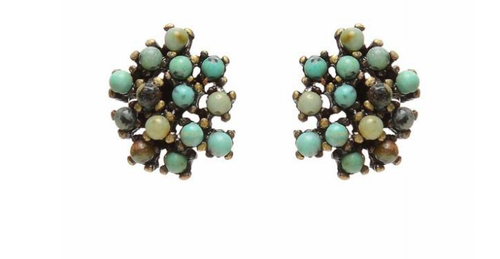 Rebel Stone Cluster Post Earring