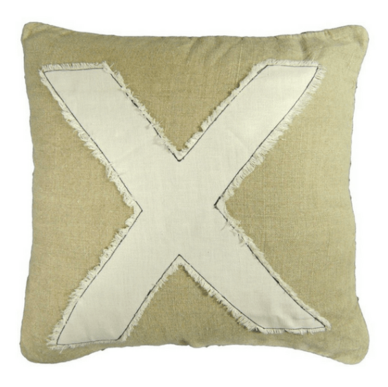 "Kiss ""X"" Pillow - 20sq"