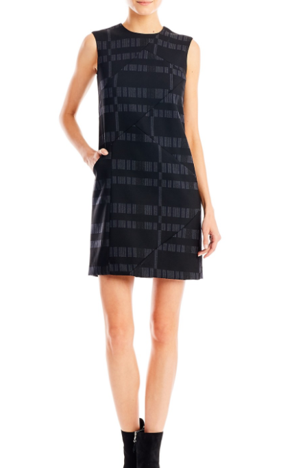 Broken Stripe Sheath Dress