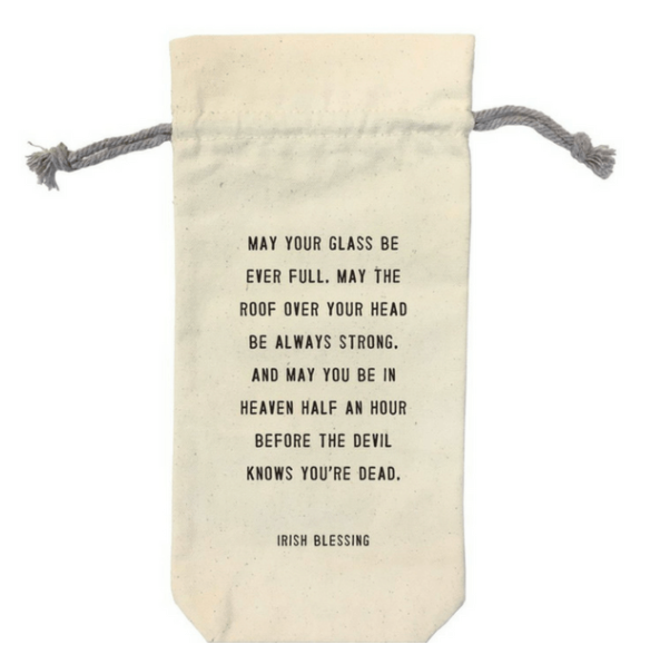 Irish Blessing Wine Bag