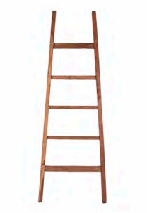 Arch Teak Display Ladder