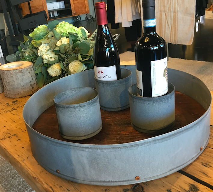 Large Wine Coaster, Galvanized