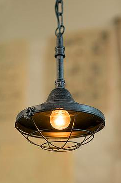 Vagabond Vintage Small Iron Factory Pendant Lamp