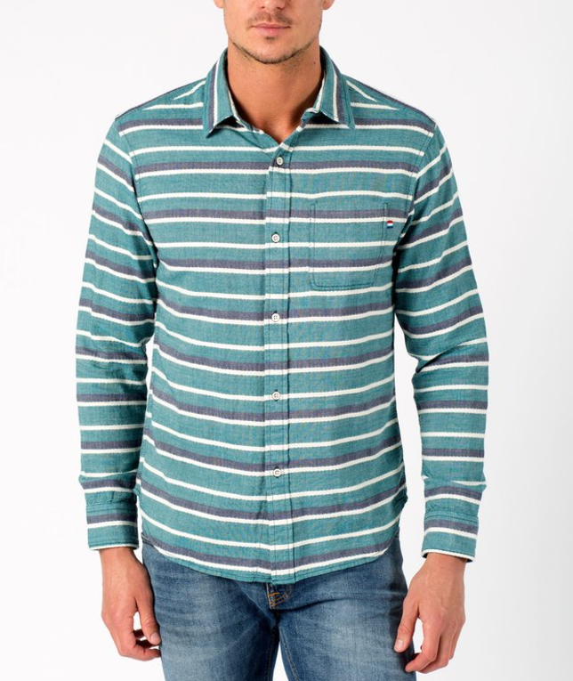 Men's Glade Stripe Woven Button Down