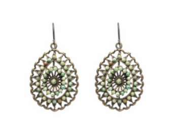 Rebel African Turquoise Filigree Earrings