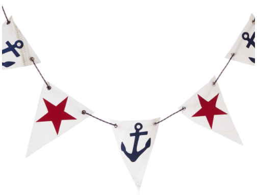 Nautical Pennant Flag Garland