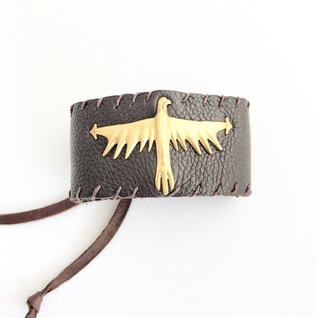 Thunderbird Leather Cuff