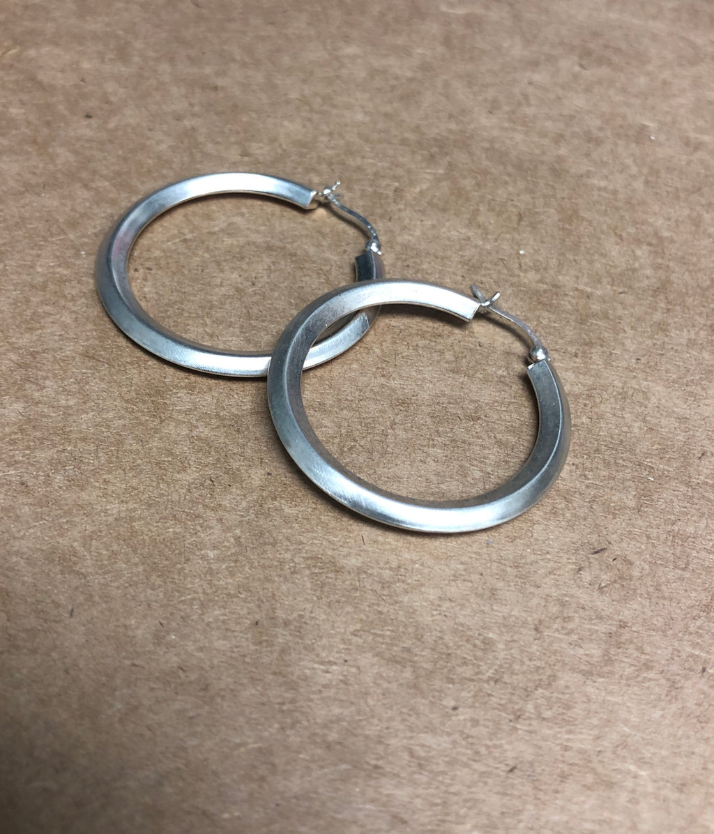 Diti Silver Medium Hoops