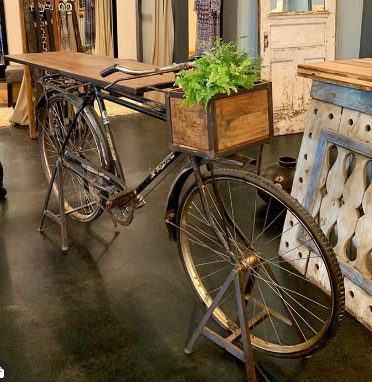 Vintage Bike Console Table
