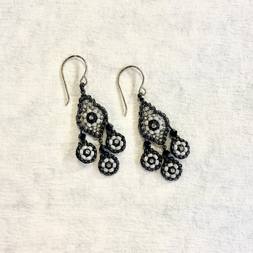 Triple Drop 3 Stone Earrings