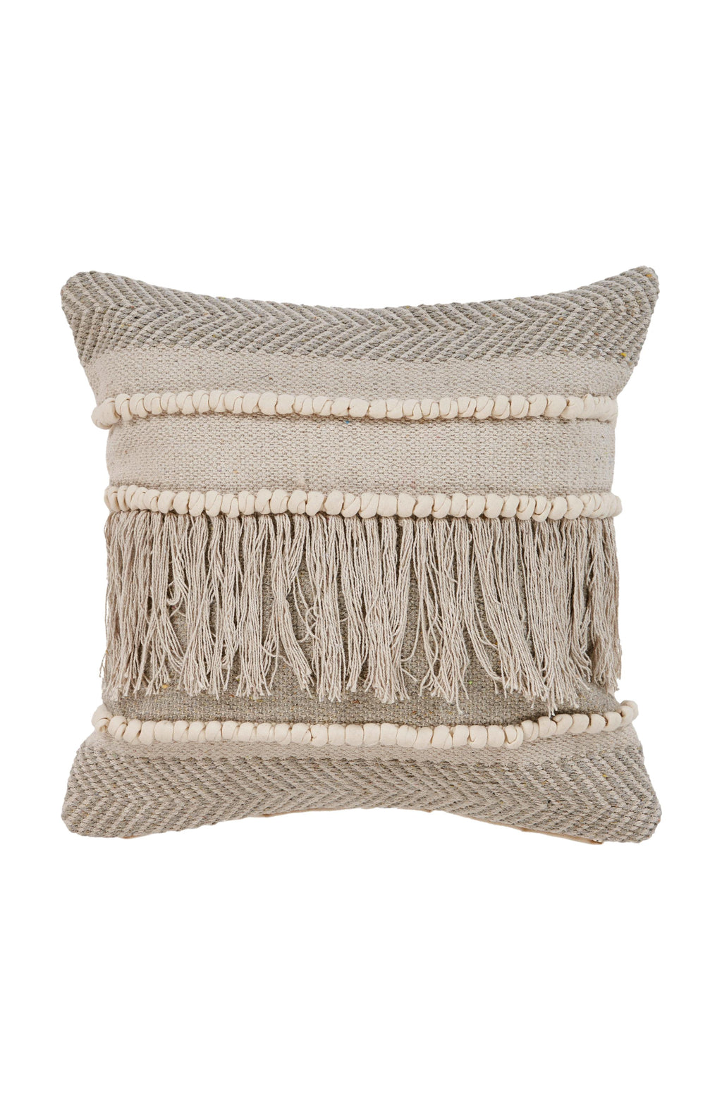 Beige Farmhouse Throw Pillow