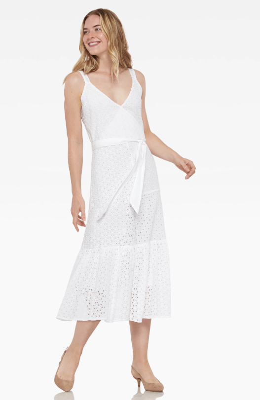 Cotillard White Eyelet Dress
