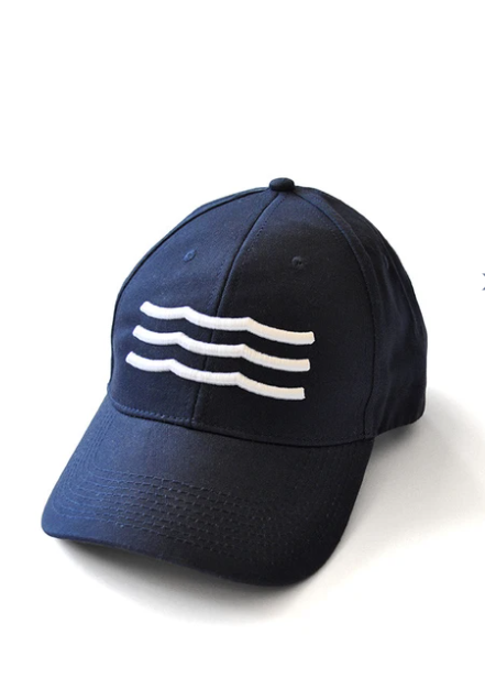 Waves Hat - Navy