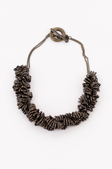 Twisted Black Diamond Necklace