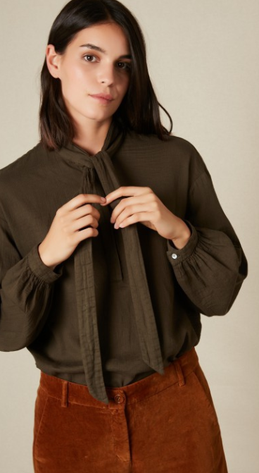 Charline Woven Army Shirt