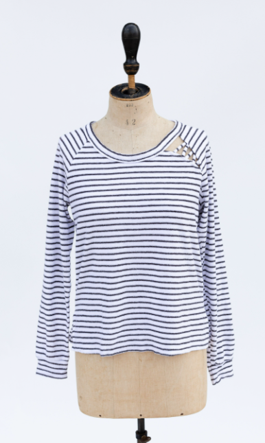 Sweetlace Striped Sweatshirt
