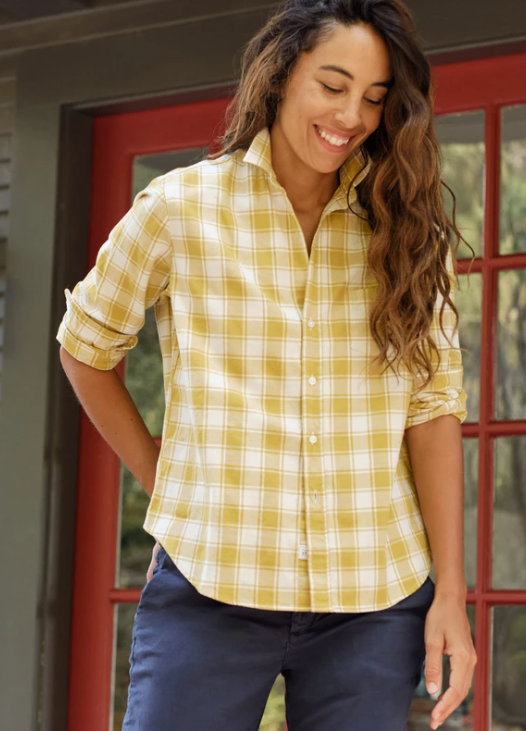 Barry Twill Button Down – Mustard