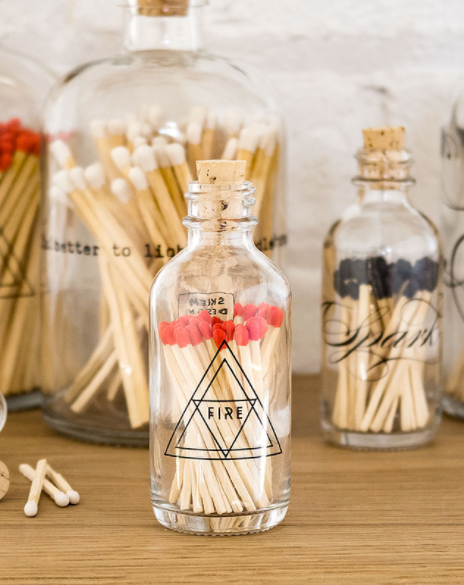 Fire Symbol Alchemy Mini Match Bottle