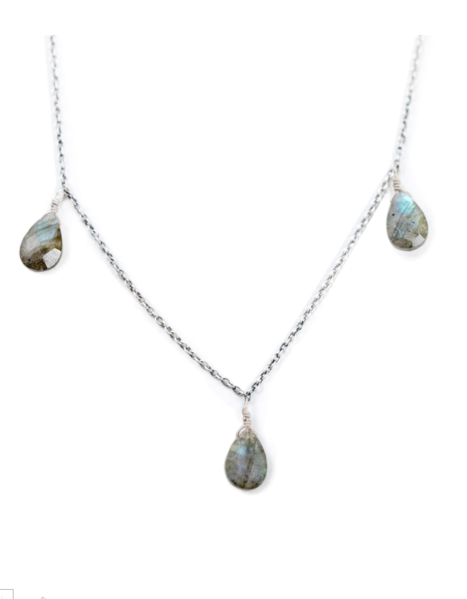 Labradorite 3 Stone Necklace