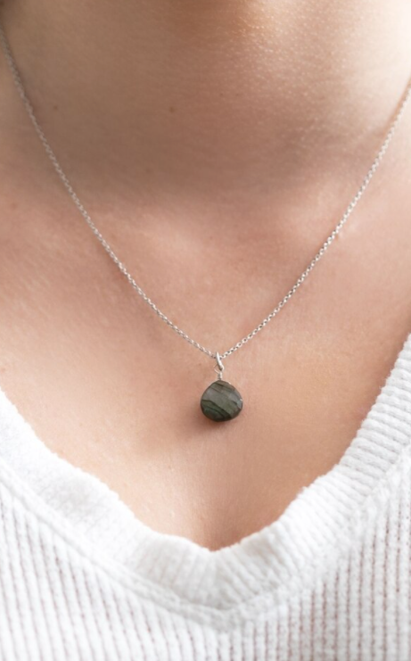 Labradorite Single Stone Necklace