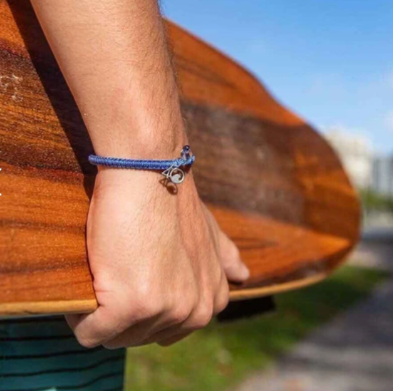 4Ocean Signature Blue Braided Bracelet