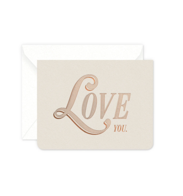 Vintage Love You Card